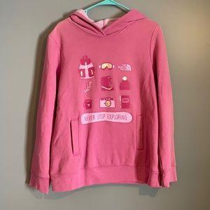 The North Face Girls Hooded Sweatshirt XL